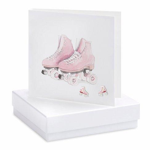 Roller Skates Earring Card