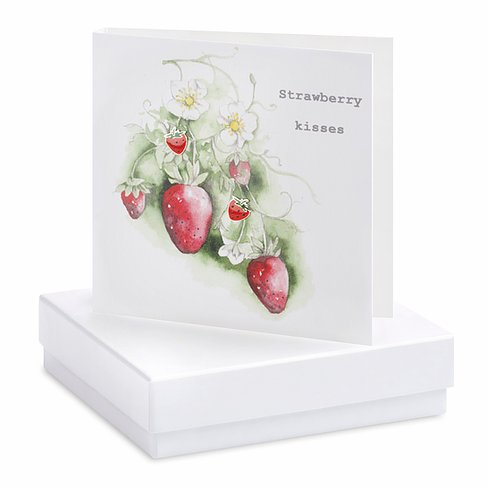 Strawberry Earring Card