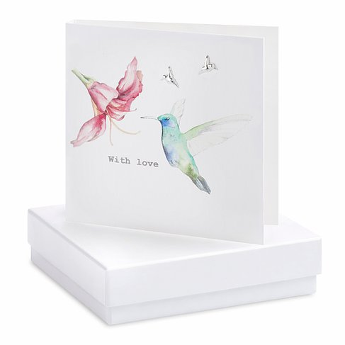 Hummingbird Earring Card