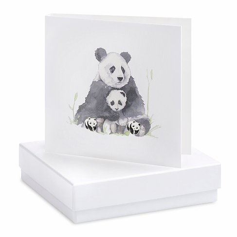 Panda Earring Card