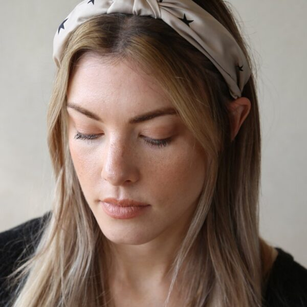 Cream Star Headband