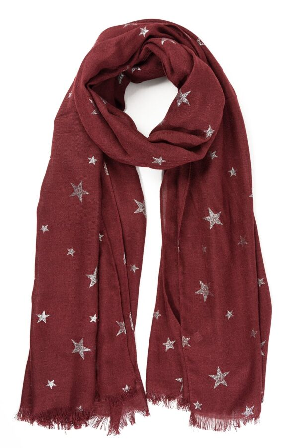 Red Scarf with Stars