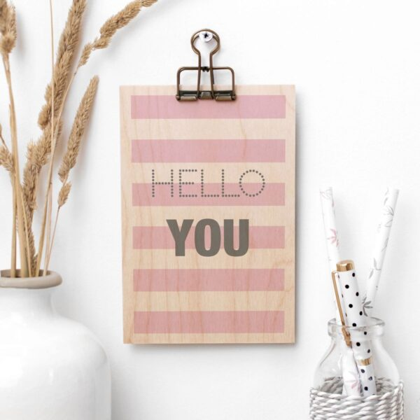 Hello You Wooden Clipboard