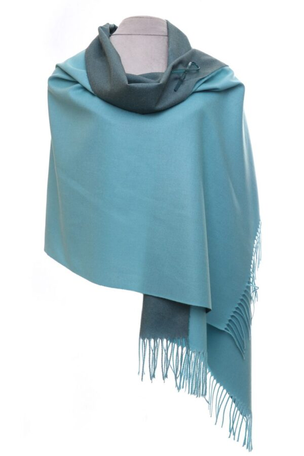 Blue Reversible Scarf