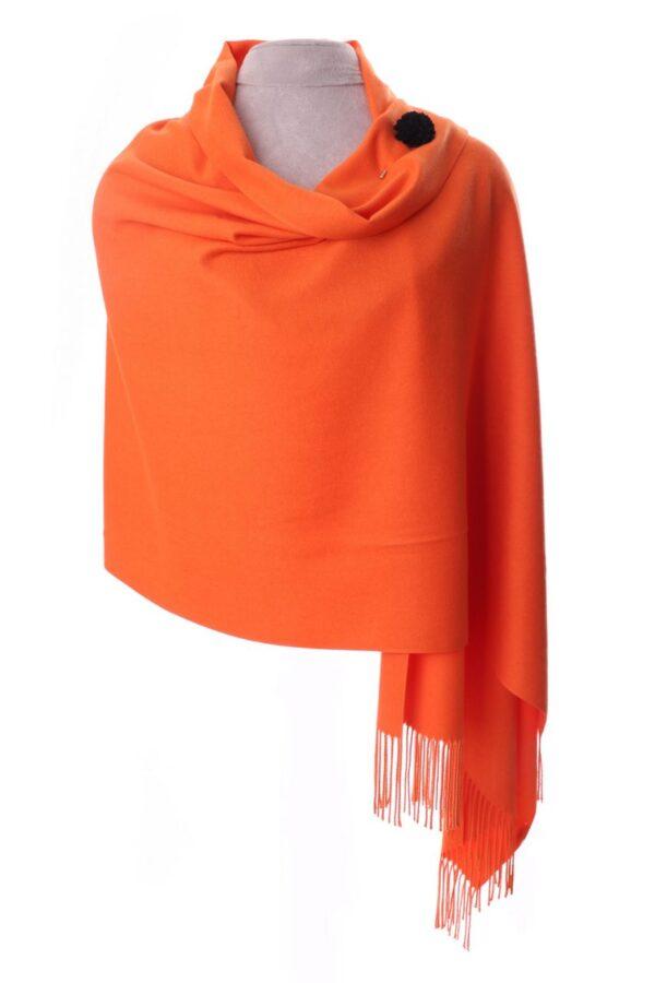 Orange Shawl with Flower