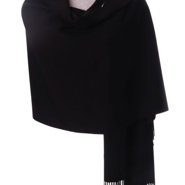 Black Shawl with Flower