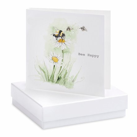 Bee Happy Square Card