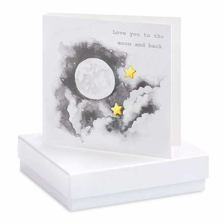 Moon and Back Square Card
