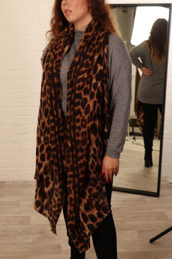 Leopard-Print Shawl