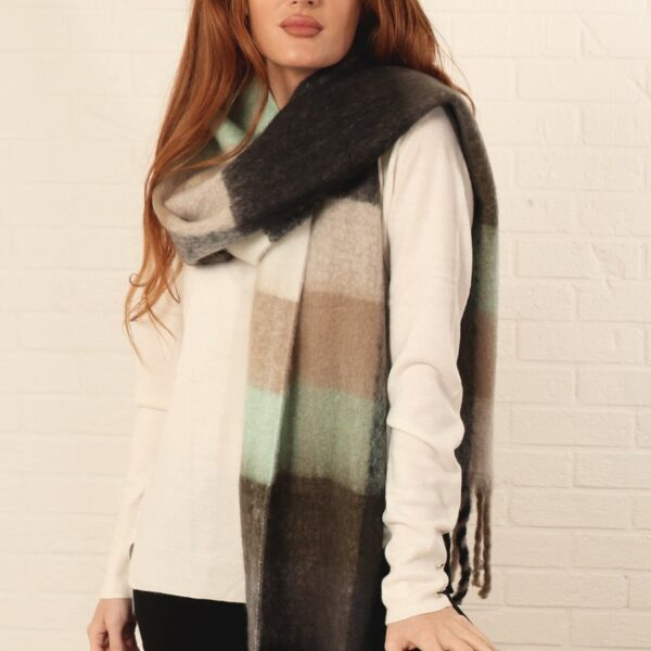 Earthy Colour Block Scarf