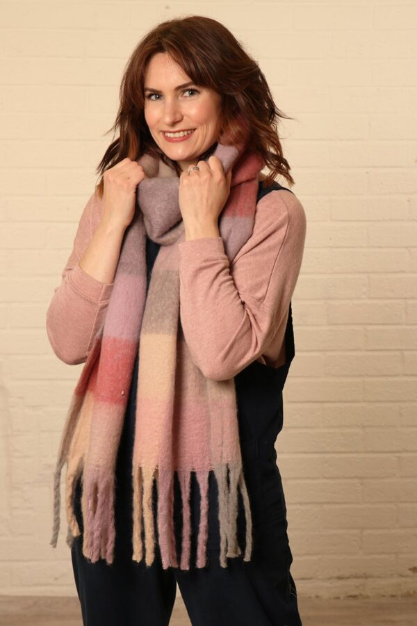 Pastel Colour Block Scarf