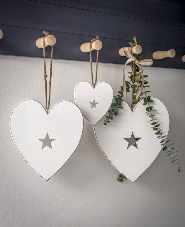 White Hanging Heart