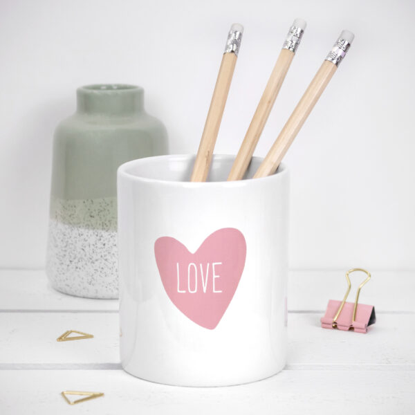 Love Heart Pen Pot