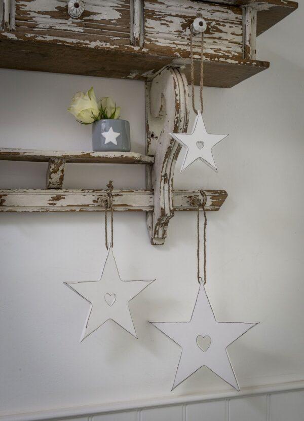 White Hanging Stars
