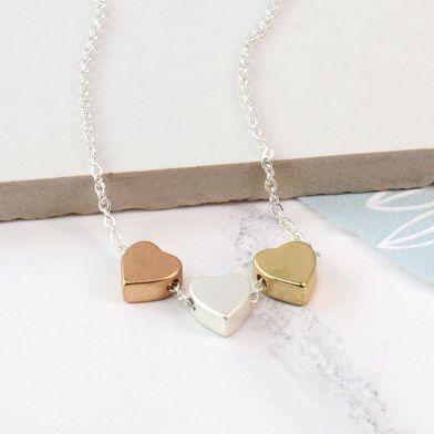 Metallic Heart Necklace