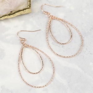 Rose Gold Droplet Earrings