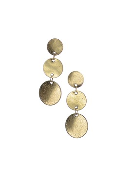 Gold Dangling Circle Earrings