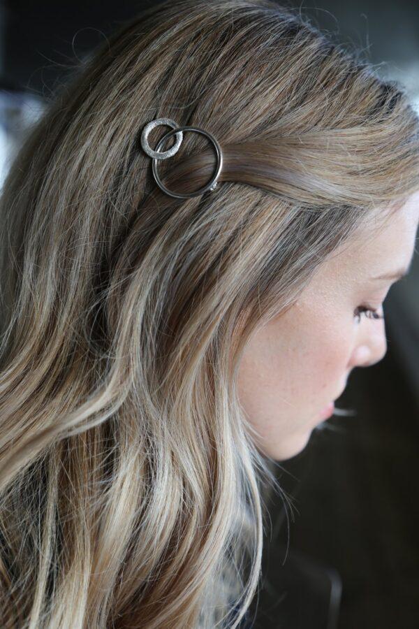 Silver Circle Hair Clip