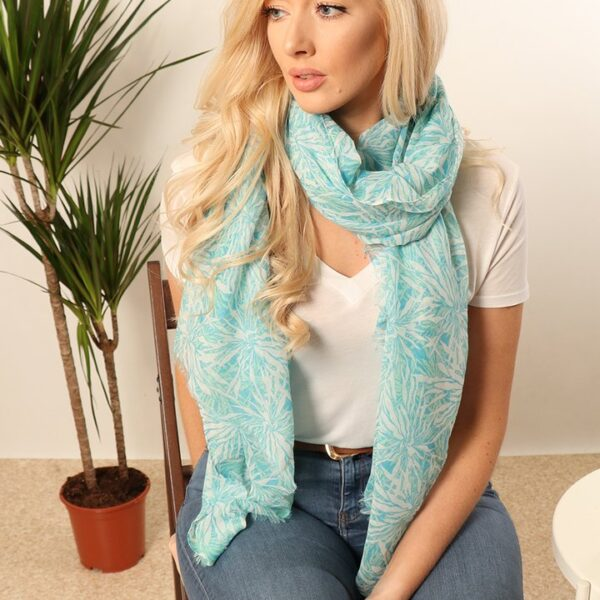 Blue Tropical Scarf