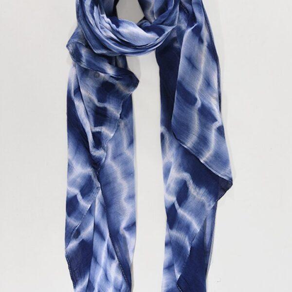 Blue Tie Dye Scarf