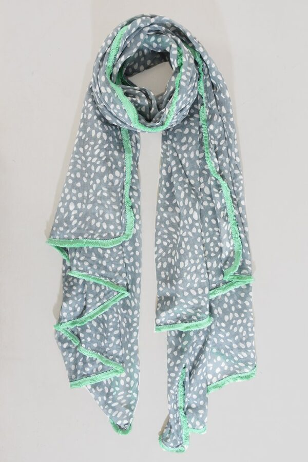 Grey and Mint Scarf
