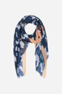 Navy Blue and Mustard Scarf