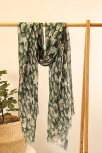 Forest Green and Camouflage Scarf
